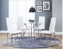 Delphi Dining Table & 4 White Chairs