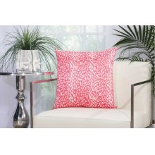 "Outdoor Pillow As524 Hot Pink 20"" X 20"" Throw Pillow"