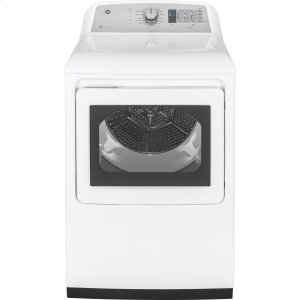 ®7.4 cu. ft. Capacity aluminized alloy drum Electric Dryer with HE Sensor Dry - WHITE ON WHITE WITH SILVER BACKSPLASH