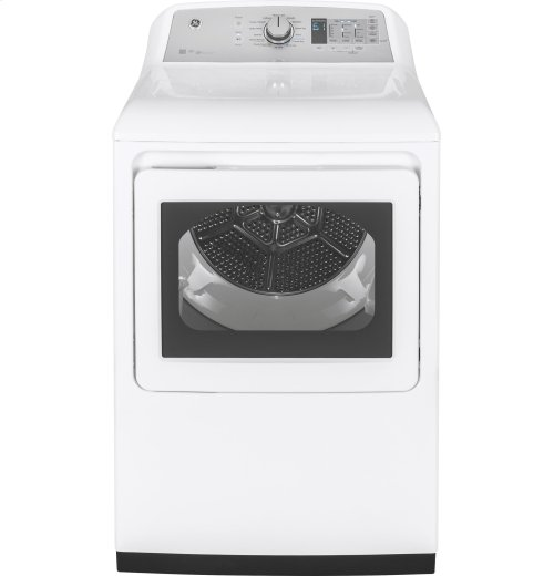 FLOOR MODEL- GE® 7.4 cu. ft. capacity aluminized alloy drum electric dryer with HE Sensor Dry