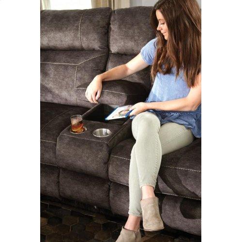 Pwr Headrest Lay Flat Recl Cnsl Loveseat w/Stg & Cupholders