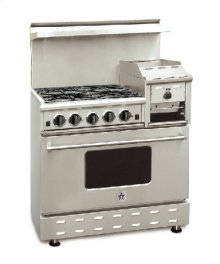 "36"" BlueStar - Residential Nova Burner (RNB) - Heritage Classic Gas Range with 4.5 Cu. Ft. Convection Oven and Raised Griddle"