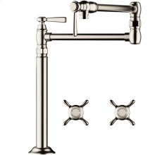 Polished Nickel Montreux Pot Filler, Deck-Mounted