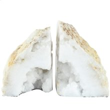 S/2 Bookends,Natural Geode