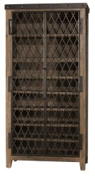 Jennings Tall Wine Cabinet - Distressed Walnut Product Image
