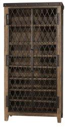 Jennings Tall Wine Cabinet - Distressed Walnut Product Image
