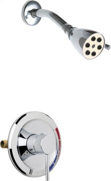 Pressure Balancing Tub and Shower Valve with Shower Head