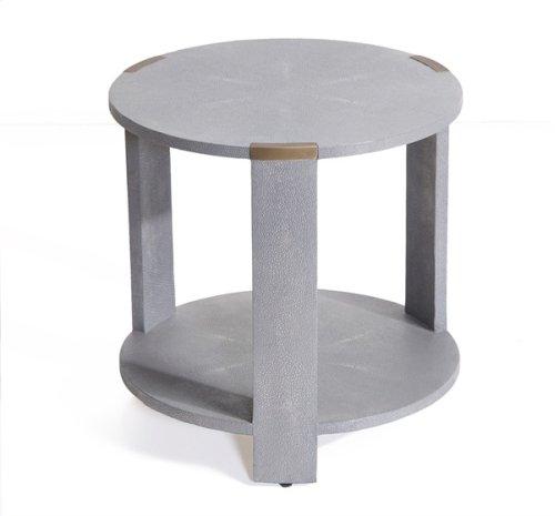 Evelyn Side Table - Grey Shagreen