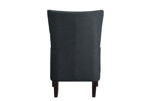"""Accent Chair with Kidney Pillow 1/4"""" Charcoal"""