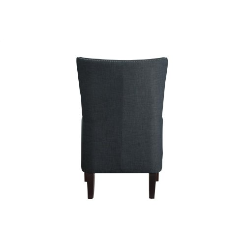 Accent Chair with Kidney Pillow, Charcoal