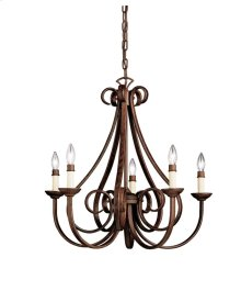 Dover 5 Light Chandelier Tannery Bronze