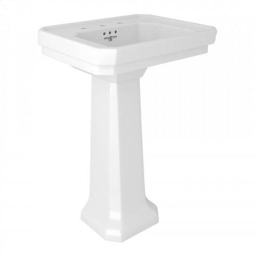 "Perrin & Rowe Deco 25"" Sink And Pedestal"