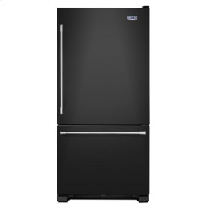 33-Inch Wide Bottom Mount Refrigerator - 22 Cu. Ft. - BLACK