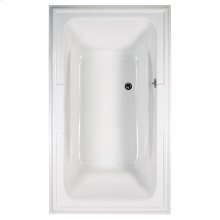 Town Square 72x42 inch EcoSilent Whirlpool Tub - White