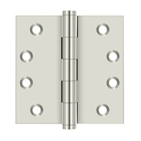 "4""x 4"" Square Hinges - Polished Nickel"