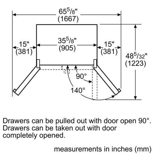 800 Series French Door Bottom Mount Stainless steel, Inox-easyclean