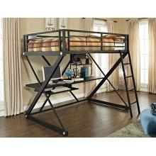 Z-Bedroom Full Size Study Loft Bunk Bed (ships in 2 cartons)