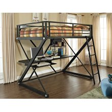 Z-Bedroom Full Size Study Loft Bunk Bed (ships in 2 cartons)