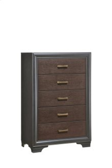 Emerald Home Prelude Chest 5 Drawer Honey Black/brown B588-05
