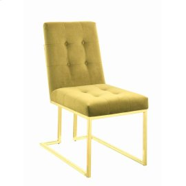 Modern Mustard and Gold Dining Chair