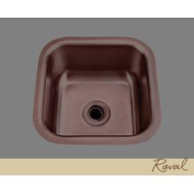 Small Square Bar Sink - 16 Gauge Stainless Steel - English Bronze
