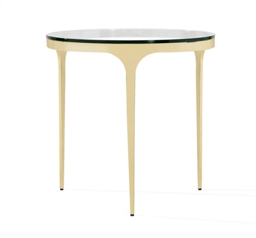 Camilla Side Table - Glass/ Brass