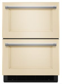"""24"""" Panel Ready Double Refrigerator Drawer"""