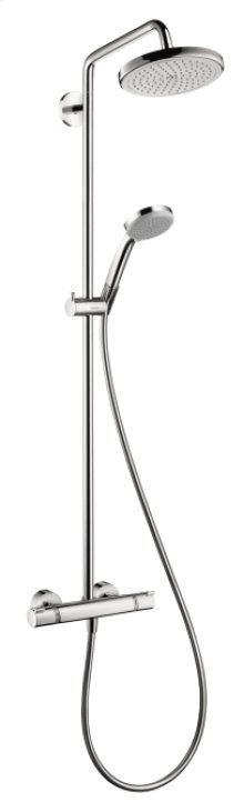 Chrome Showerpipe 220 1-Jet, 2.5 GPM