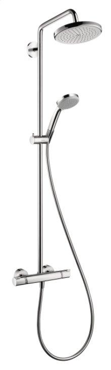 Chrome Showerpipe 220 1-Jet, 2.5 GPM