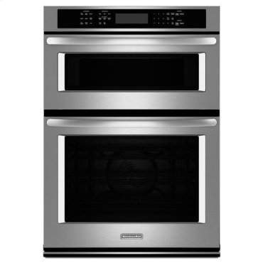 """Stainless Steel KitchenAid® 30"""" Combination Wall Oven with Even-Heat™ True Convection (Lower Oven)"""