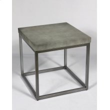 Emerald Home T375-01 Onyx End Table, Aged Concrete