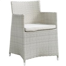 Junction Dining Outdoor Patio Armchair in Gray White