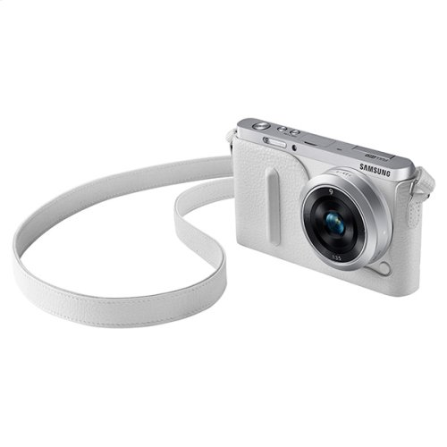 Fitted Leather Jacket for NX Mini Camera (White)