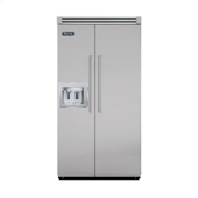 "Metallic Silver 42"" Quiet Cool™ Side-by-Side with Dispenser - VISB Tru-Flush™ (42"" wide)"