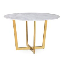 Maxim White Marble Dining Table