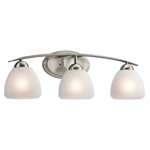 Calleigh Collection Calleigh 3 Light Bath Light - Brushed Nickel