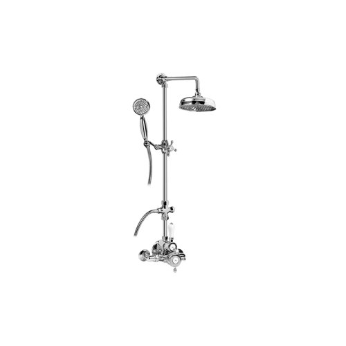 Traditional Exposed Thermostatic Tub and Shower System - w/Metal Handshower Handle