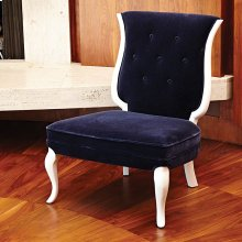 Lyre Chair-Ink Mohair