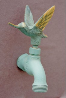Verdi French Country Hose Bibb Faucets Brass / Hummingbird In Flight