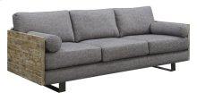 Sofa W/2 Bolster Pillows-charcoal Blue #k2080-8/sandstone Finish