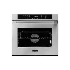 "DacorHeritage 30"" Single Wall Oven, Silver Stainless Steel, Flush handle"