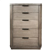 Precision Five Drawer Chest Gray Wash finish Product Image