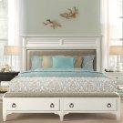 Myra - King/california King Upholstered Bench Storage Footboard - Paperwhite Finish Product Image