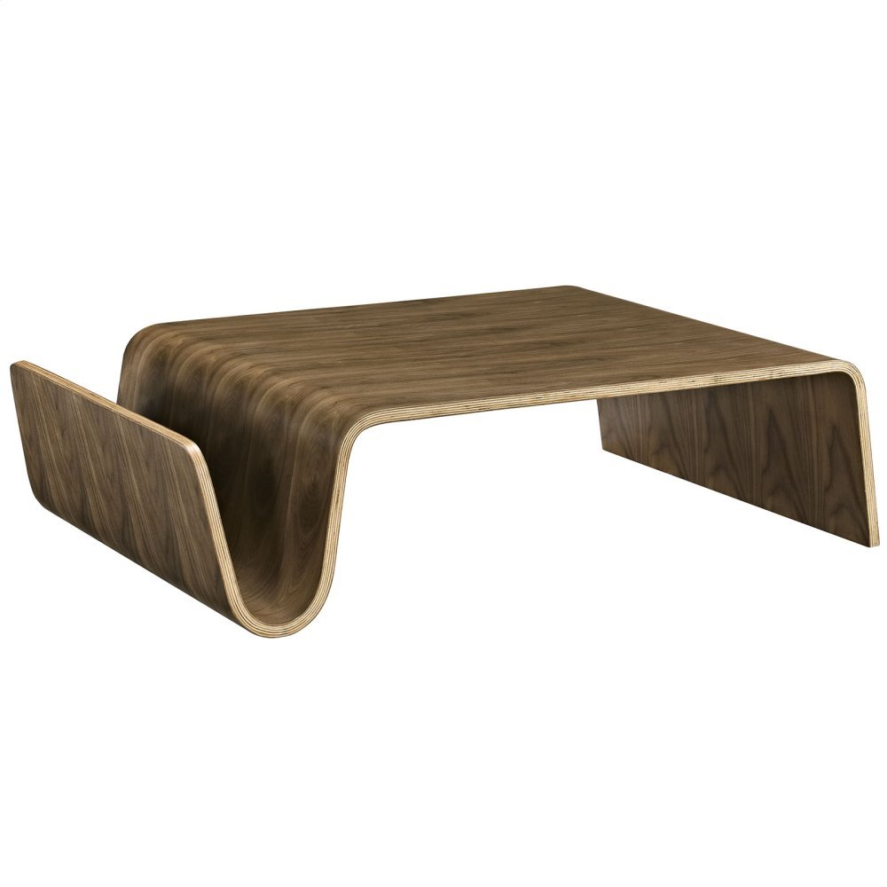 Polaris Wood Coffee Table in Walnut