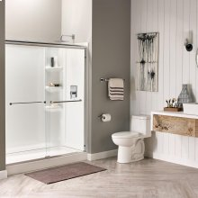 Studio 60x32-inch Shower Walls - Arctic