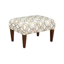 Small Cocktail Ottoman-tapered Leg