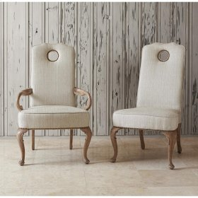 Queen Anne Arm Chair - Oak - Balsamo/Rai