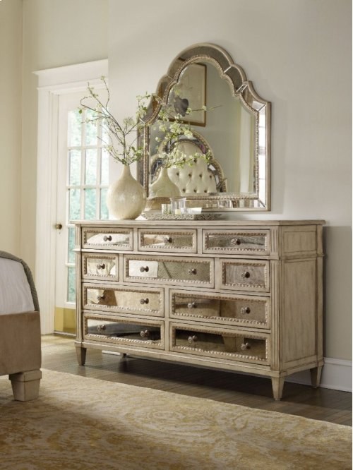 Sanctuary Ten Drawer Dresser-Pearl Essence