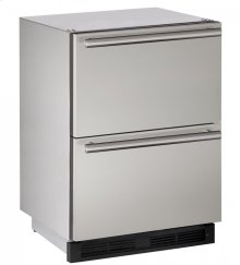 """Outdoor Series 24"""" Outdoor Refrigerator Drawers With Stainless Solid Finish and Drawers Door Swing (115 Volts / 60 Hz)"""