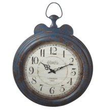 Distressed Blue Large Vintage Wall Clock.
